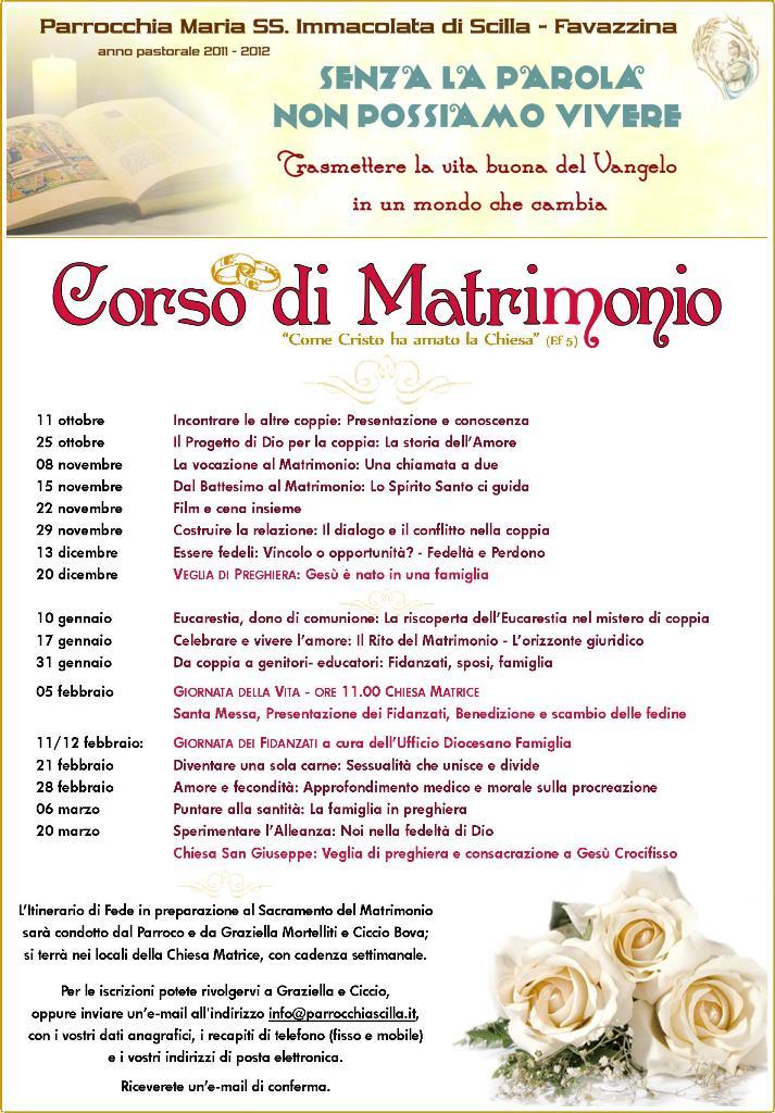 Matrimonio In Corso : Corso per fidanzati